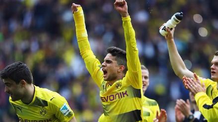 Las lágrimas de Marc Bartra tras volver a jugar con el Borussia Dortmund