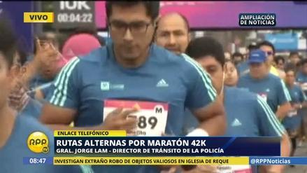 Aquí las rutas alternas por la Maratón Lima 42K