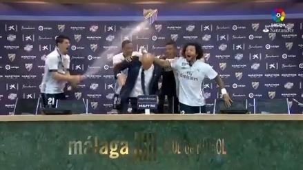 Jugadores del Madrid interrumpieron rueda de prensa de Zidane para celebrar