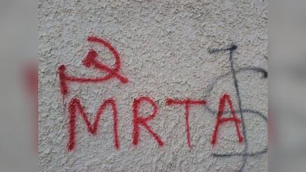 Aparecen pintas subversivas en colegio de Chota