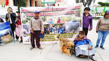 Huancayo: pobladores de Cobriza realizan marcha de sacrificio