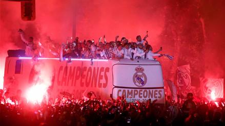 Real Madrid celebró su título al ritmo de 'Despacito' en Cibeles