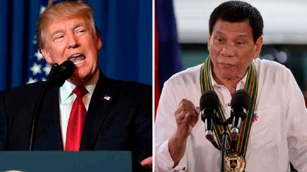 Trump felicitó a Duterte por su