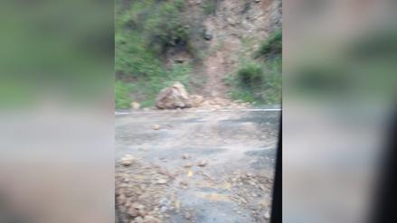 Tarma: deslizamiento interrumpe la vía Huayaonioc - Huasahuasi