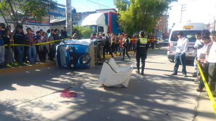 Cajamarca: escolar murió en choque de combi contra mototaxi