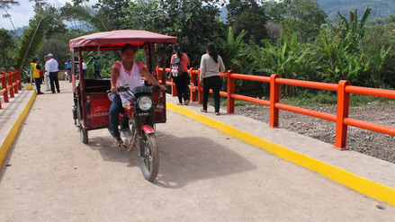 Tocache: inauguran nuevo puente para traslado de producción agrícola