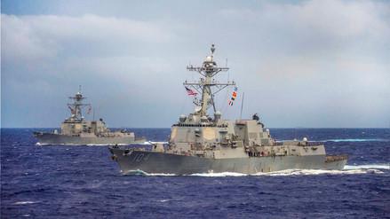 EE.UU. desafía a China y envía un buque de guerra a las aguas en disputa