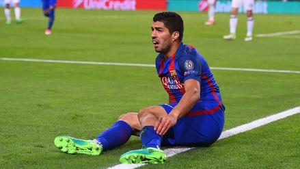 Luis Suárez se lesionó muscularmente y estará de baja quince días