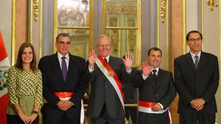 Bruno Giuffra y Pedro Olaechea juraron como ministros de Transportes y de la Producción