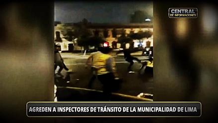 Sujetos agredieron a inspectores de tránsito en el Centro de Lima