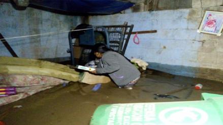 Chanchamayo: tres casas fueron inundadas por las lluvias