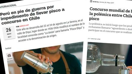 Así informó la prensa de Chile sobre la polémica del pisco y el aguardiente
