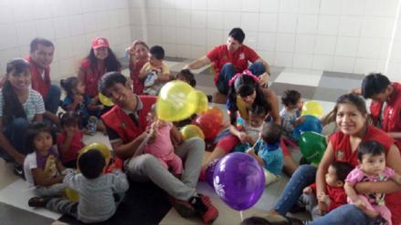 Trabajadores del JNE entregaron donaciones para niños de albergue de Ferreñafe
