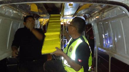 Incautan más de 77 kilos de droga camuflada en camioneta en Huancavelica