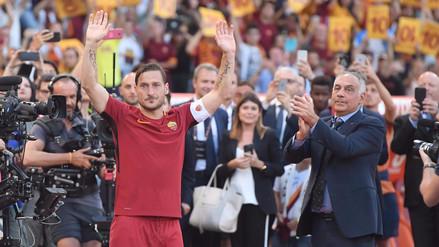 Francesco Totti se retiró de la Roma con una victoria ante Genoa