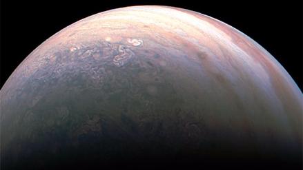La primera imagen de los anillos de Júpiter desde dentro