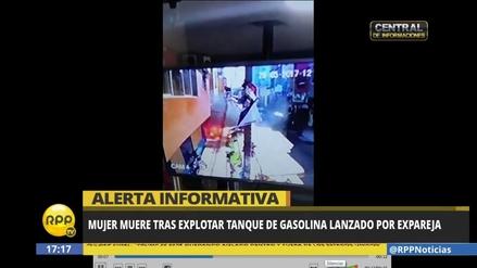 Tarapoto: mujer muere tras explotar tanque de gasolina lanzado por expareja
