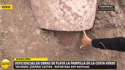 Obras de playa La Pampilla de la Costa Verde en riesgo por rocas y erosión