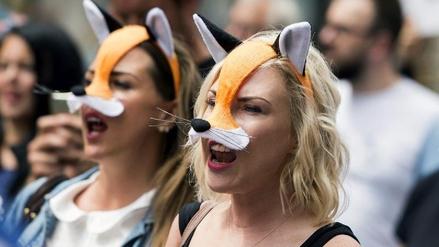 Protestan en Londres contra la legalización de la caza del zorro