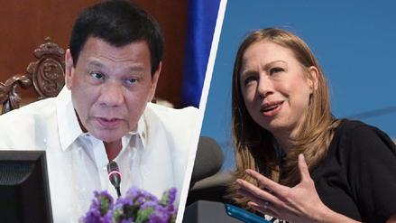 Duterte le recordó a Chelsea Clinton la infidelidad de su padre con Monica Lewinsky