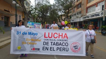 Jóvenes piuranos marcharon en el Día Mundial Sin Tabaco