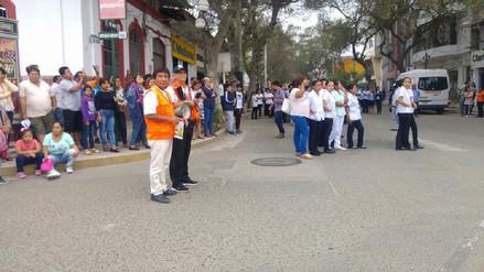 Piuranos participaron de forma activa en simulacro de sismo