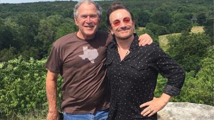 Bono y George Bush se reunieron para tratar temas sociales