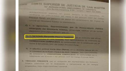 Poder Judicial citó a juicio a mujer que murió en explosión en Tarapoto