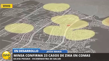 El Ministerio de Salud confirmó 23 casos de zika en Comas