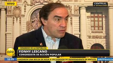 Yonhy Lescano dijo que pedirá la interpelación del ministro Bruno Giuffra