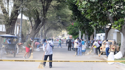 Programan jornadas de limpieza en calles de tres distritos de Piura
