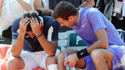 Juan Martín Del Potro consoló a tenista tras sufrir lesión en pleno partido