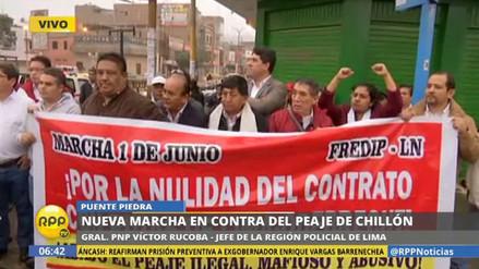 Los vecinos de Puente Piedra protestan otra vez contra el peaje