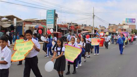 Con movilización concientizan a rechazar la violencia contra la niñez
