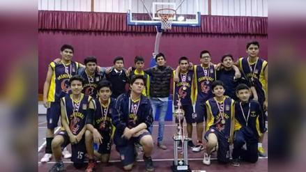 En partido de infarto Champagnat campeona en baloncesto escolar