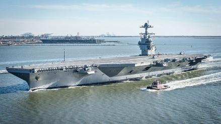 La Armada de EE.UU. incorporó un moderno portaaviones nuclear a su flota
