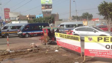 Ate: Vecinos reportan que obra de la Avenida Urubamba genera caos vehicular