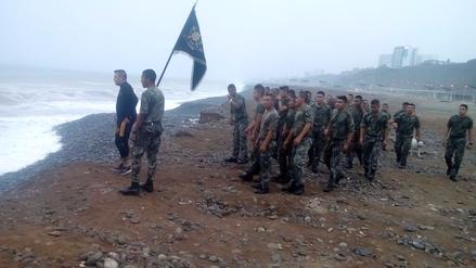 Chincha: velan restos de sargento que murió ahogado en Marbella