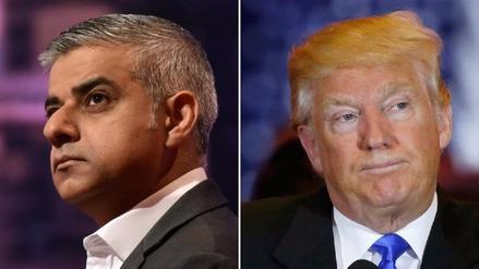 Trump volvió a criticar al alcalde de Londres: