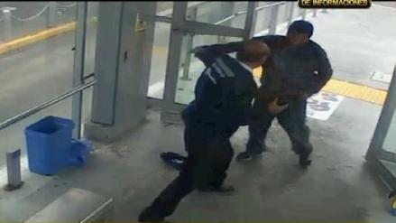 Agreden a un agente de seguridad en estación del Metropolitano de Barranco
