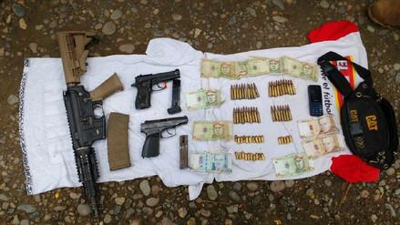 Militares hallan armas y municiones en el Vraem