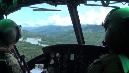 Vraem: realizan operativo aéreo para destruir pozas de maceración