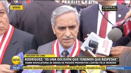 Rodríguez sobre Félix Moreno: