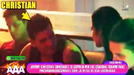 Christian Domínguez fue ampayado con Miss Tarapoto
