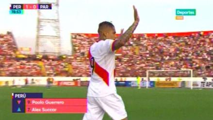 Paolo Guerrero se fue ovacionado por miles de hinchas en el Estadio Mansiche