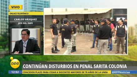 Un reo murió durante un motín en Sarita Colonia