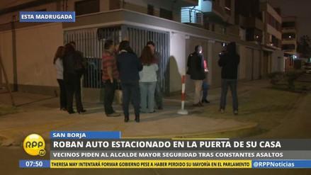 Vecinos de San Borja piden más seguridad ante serie de asaltos