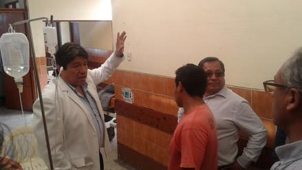 Gobernador Regional de Áncash inspeccionó hospital