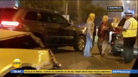 César Hildebrandt fue protagonista en un accidente de tránsito en Surco
