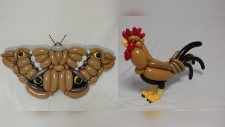 Artista sorprende con sus figuras hechas por globos
